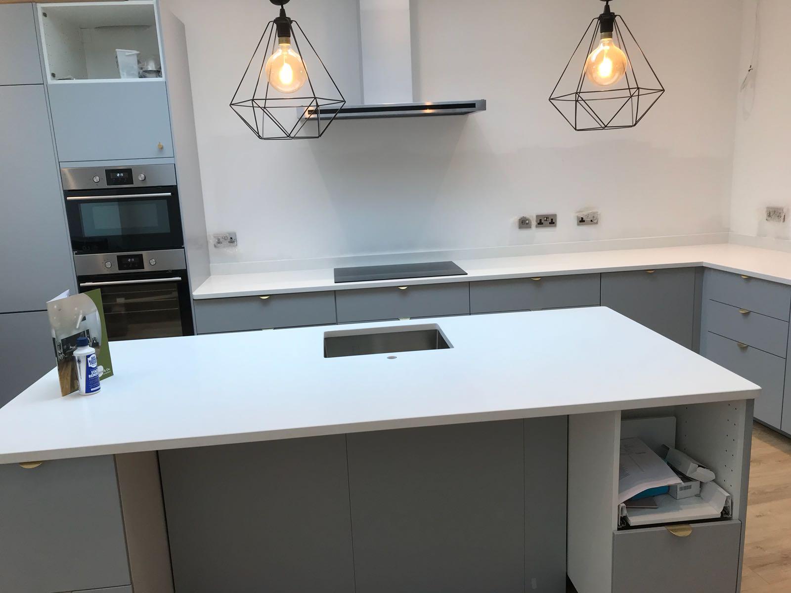 Kitchen of the week… Located in Saffron Walden, Essex, showcasing the Bianco Marmo Suprema
