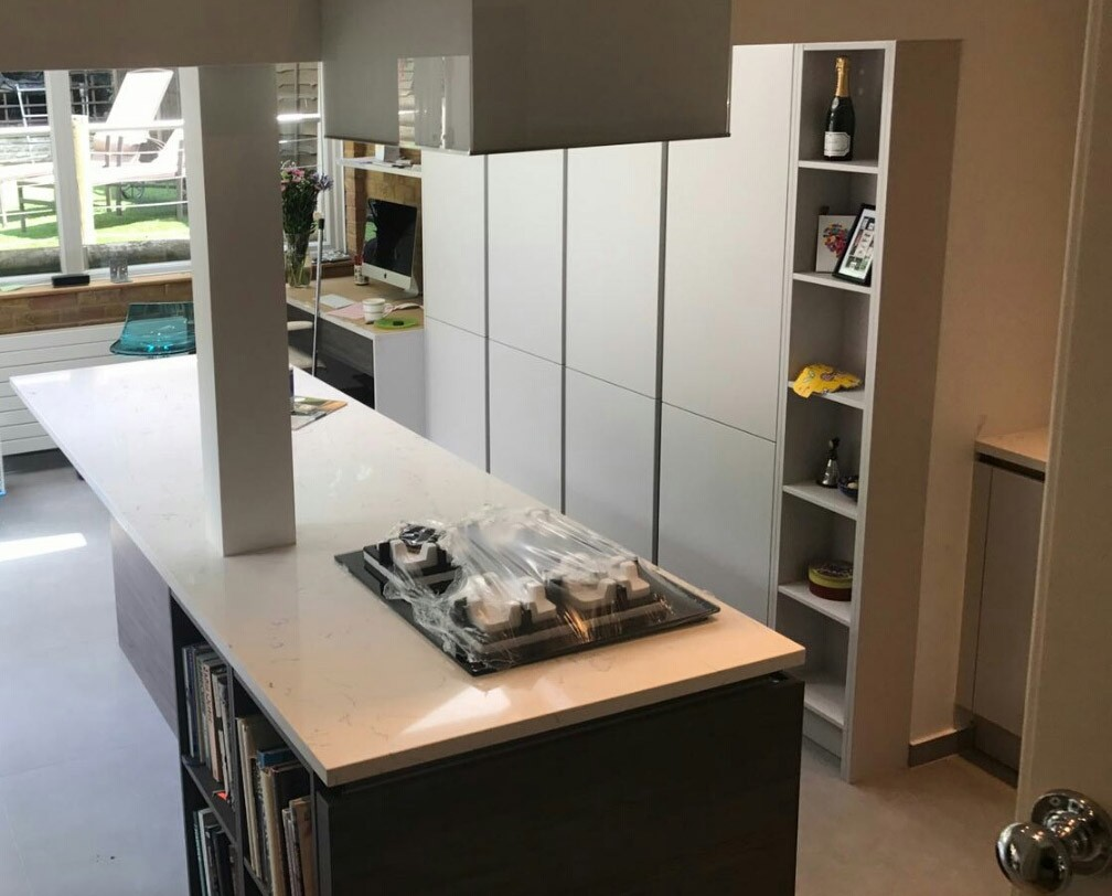 Designing a long and narrow galley style kitchen