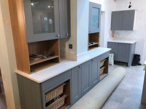 carrera quartz worktops grey kitchen rockandco