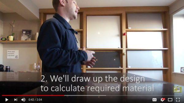 order process for quartz worktops video