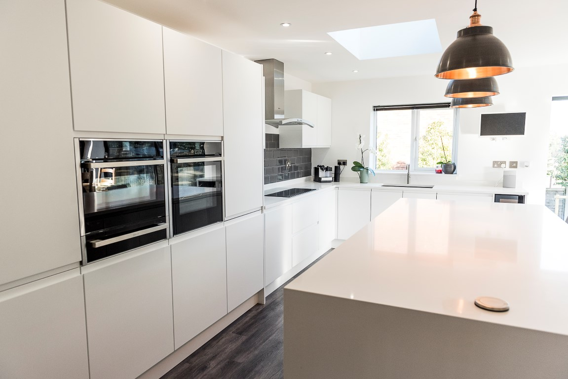 Kitchen of the week… Located in Bushey, Hertfordshire, showcasing the Bianco Puro