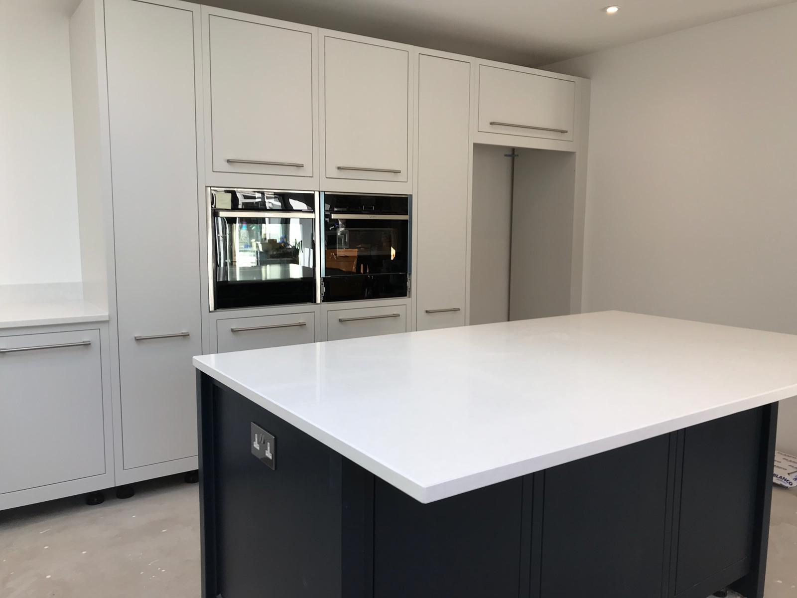 Kitchen of the week… Located in Watford, Hertfordshire, showcasing the Bianco Marmo Suprema