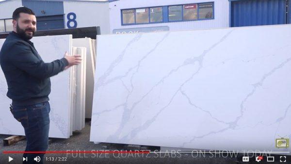 outdoor quartz slab showroom