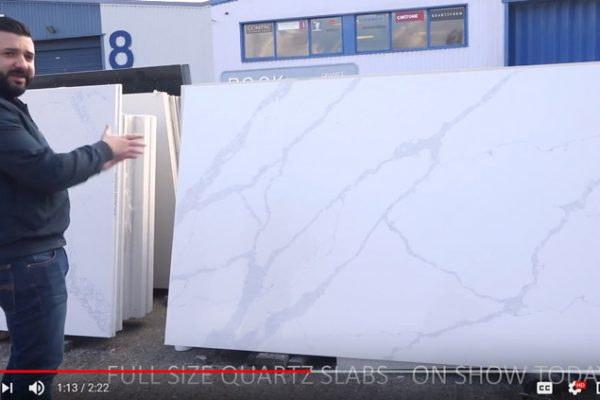 outdoor quartz slab showroom