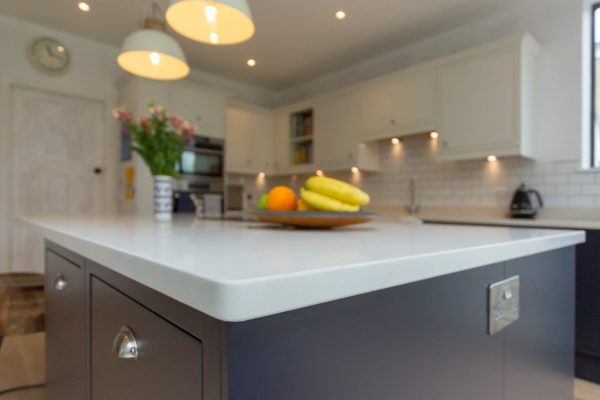 bianco carrina quartz worktop harpenden large open plan kitchen