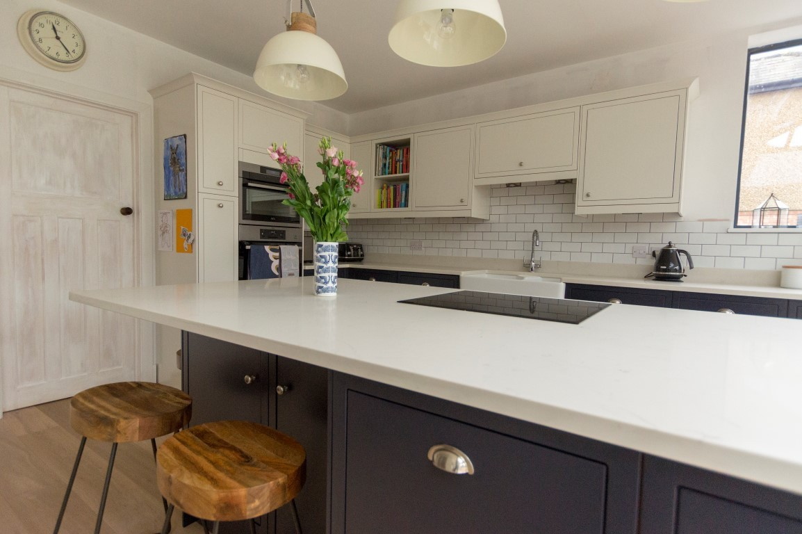 Kitchen of the week… Located in Harpenden, Herts, showcasing the Bianco Carrina