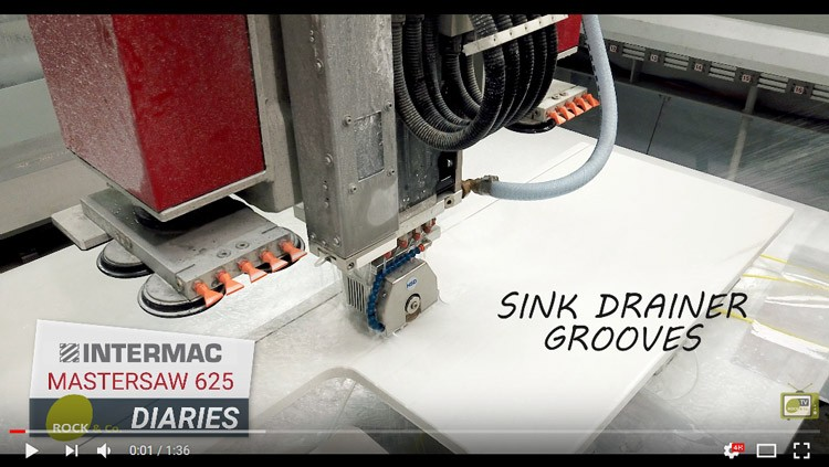 Intermac MasterSaw 625 Diaries – #003 Sink drainer grooves