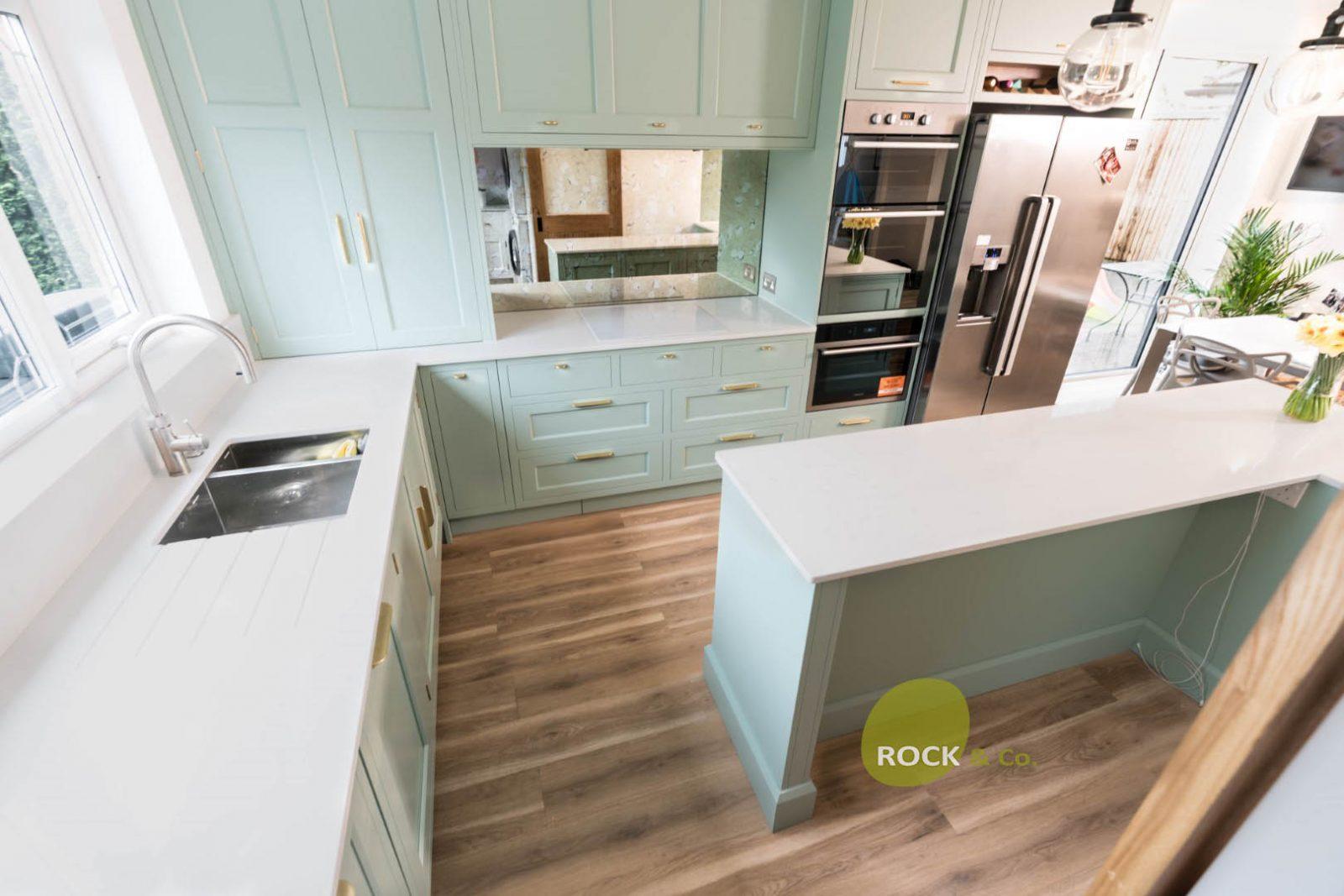 Kitchen of the week… Located in Borehamwood, Herts, showcasing the Bianco Carrina