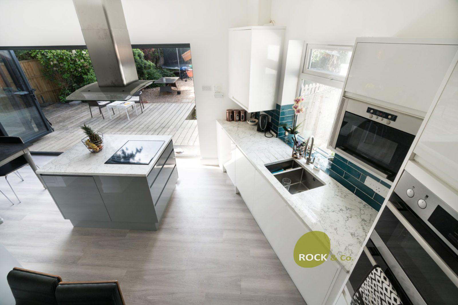 Kitchen of the week… Located in Twickenham, showcasing the Montblanc Calacutta