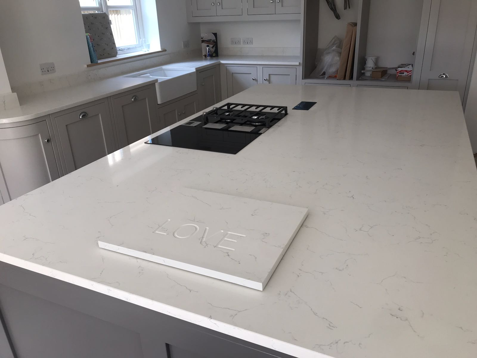 Kitchen of the week… Located in Rickling Green, Essex, showcasing the White Carrera