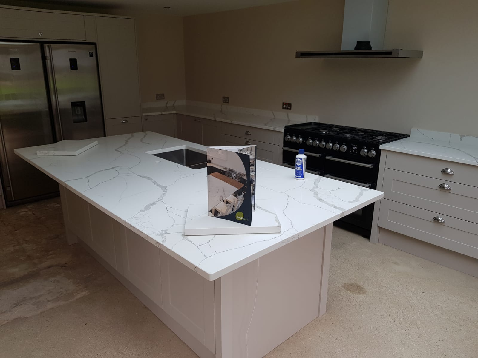 Kitchen of the week… Located in Stevenage, Herts, showcasing the Calacutta Statuario