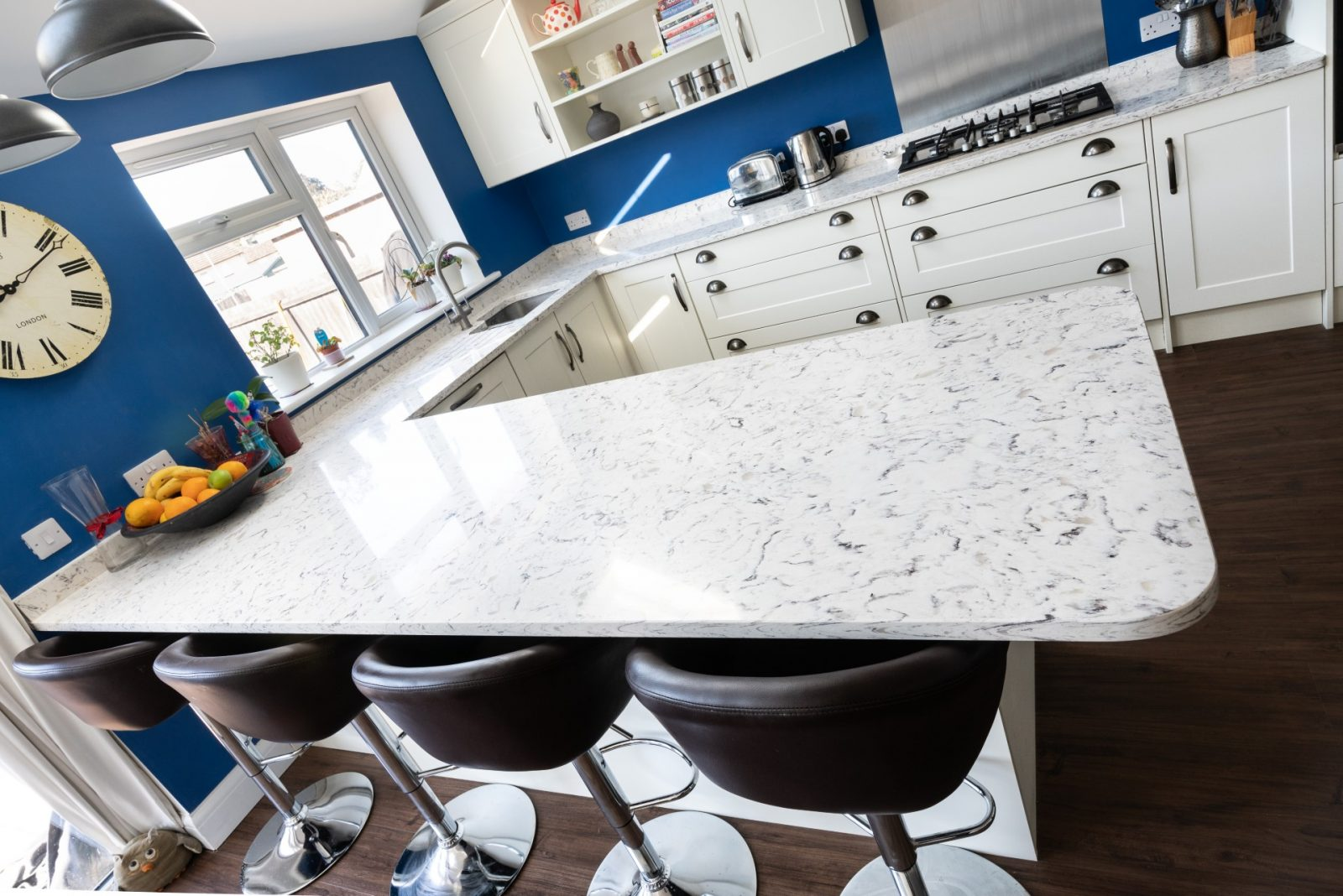 Kitchen of the week… Located in Hitchin, Herts, showcasing the Bianco Foresta