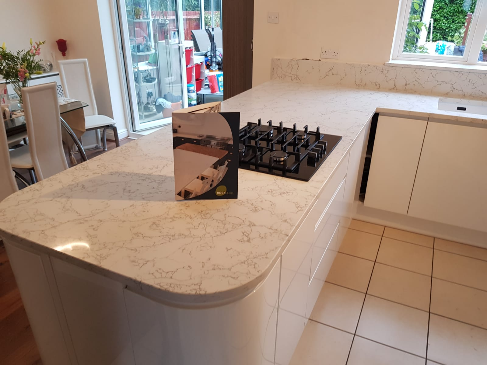 Kitchen of the week… Located in Stevenage, Herts, showcasing the Montblanc Calacutta