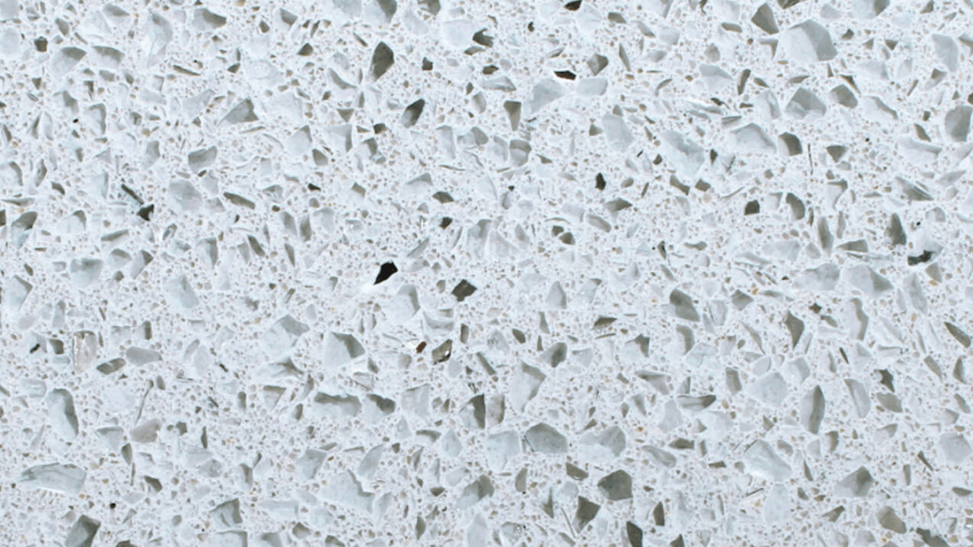 White Sparkle Quartz Worktop from Magnet